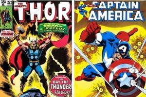 Stan Lee designed superhero covers