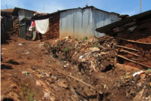 Kibera, the largest slum in Nairobi
