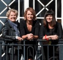 Sandi Toksvig, Sophie Walker and Catherine Mayer