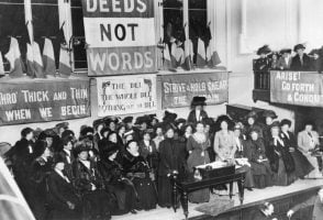 suffragette meeting