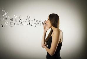 Woman speaking and not making sense