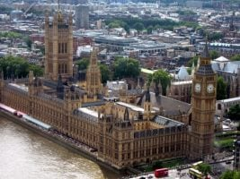 westminister from the sky