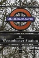 westminster tube sign