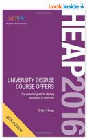 Heap 2016: University Degree Course