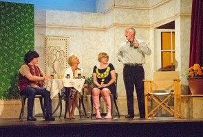 Chesterfield Theatre Company performing 'Relatively Speaking' play on stage