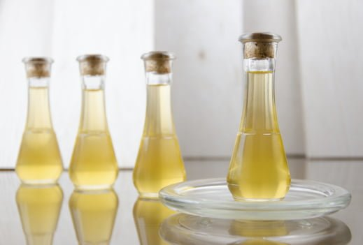Natural oils in a bottle for hair and beauty