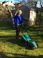 rosie on her lawn