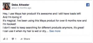 Social media post about Maya