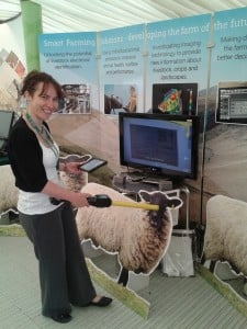 Clare at a highland show stand
