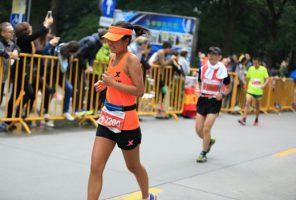 older woman in race