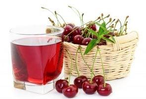 glass of cherry juice