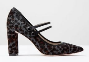 Leopard Mary Jane shoe with block heel from Boden