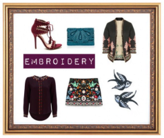 style boards for embroidery in autumn season