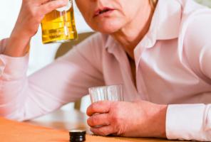 older lady drunk
