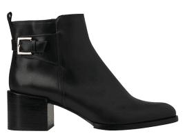 Whistles Venice Mid Jodhpur Block Heel Ankle Boots, Black