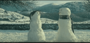 Screenshot from the John Lewis Christmas ad The Power of Love