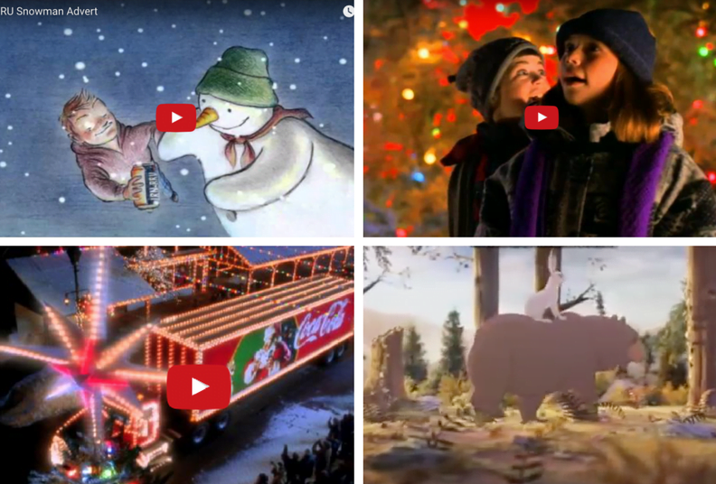 Screenshot of christmas adverts