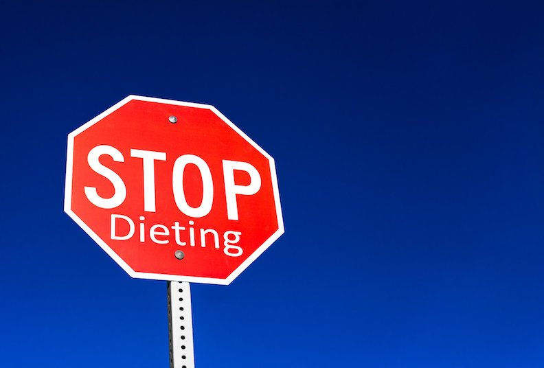 Want to stop dieting for good right now?