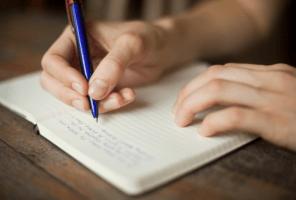 lady writing diary