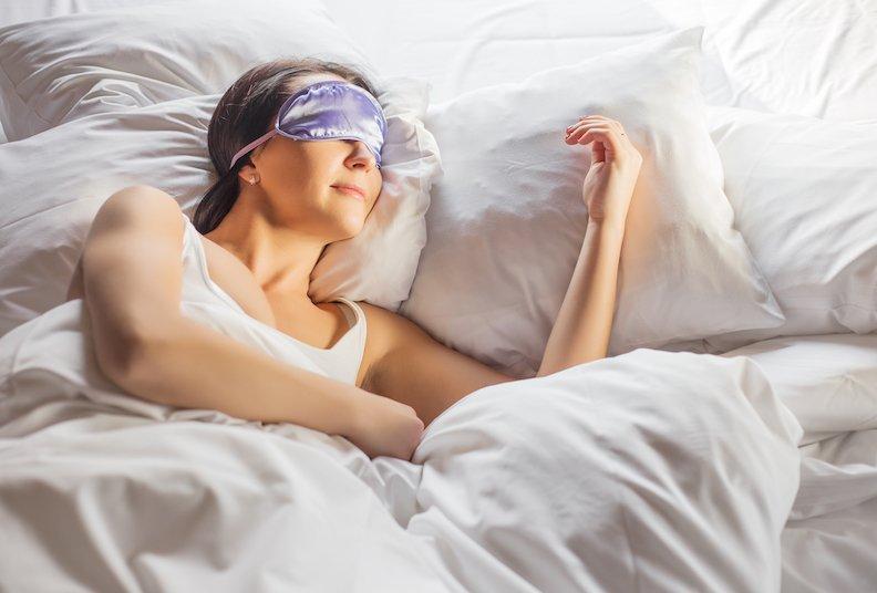 Menopausal woman enjoying sleep