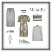 metallic colour clothes and accessories