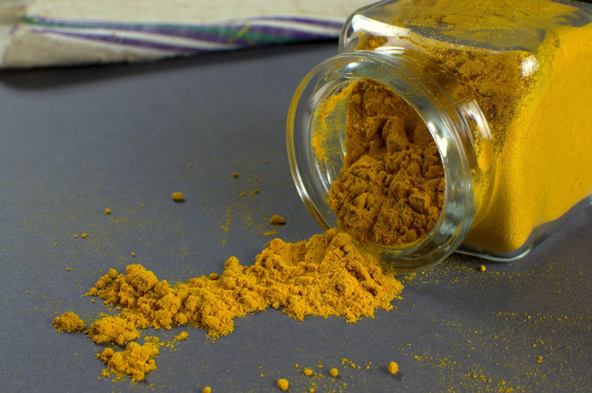 Jar of turmeric