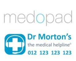 Dr Morton's and Medopad logo