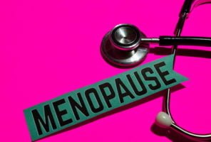 Menopause on the paper with medicare Concept