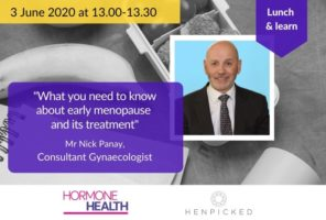 menopause, early menopause, Nick Panay