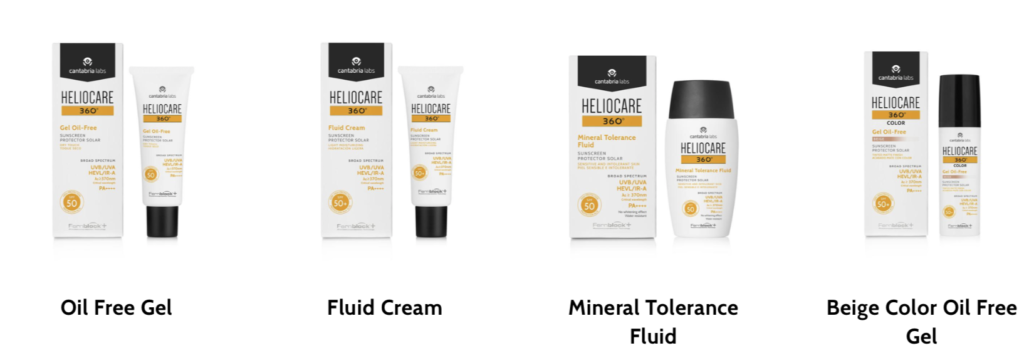 skin and sun protection - Heliocare products