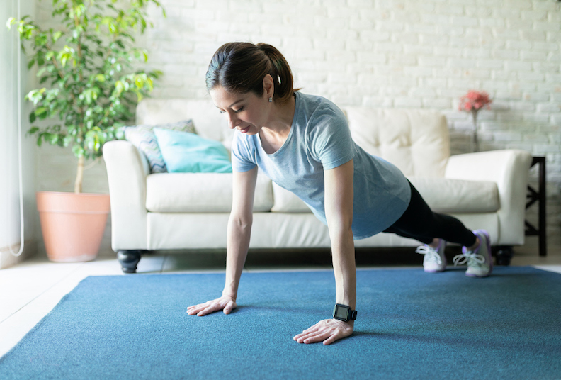 How to actually get fit with a home workout routine