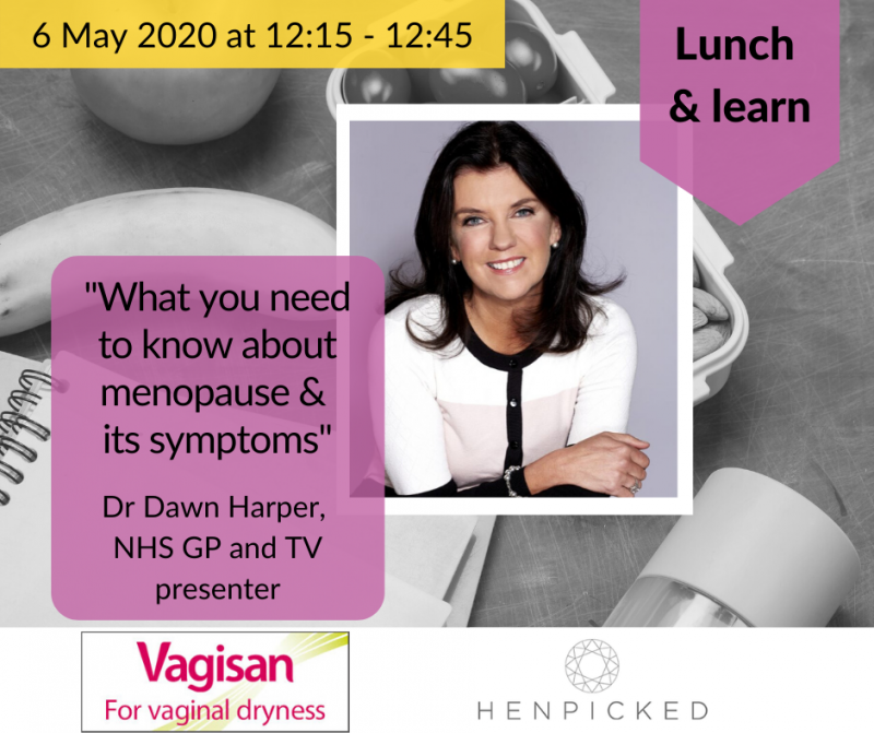 Lunch & learn: menopause and its symptoms – Dr Dawn Harper
