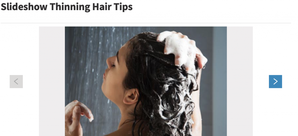 Top tips on thinning hair